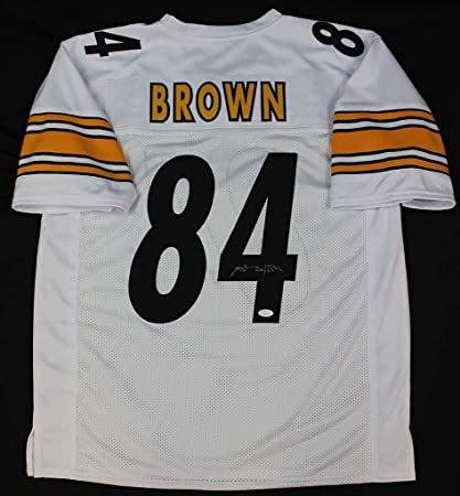 4928a4a40db Antonio Brown Autographed White Pittsburgh Steelers Jersey - Hand Signed By Antonio  Brown and Certified Authentic