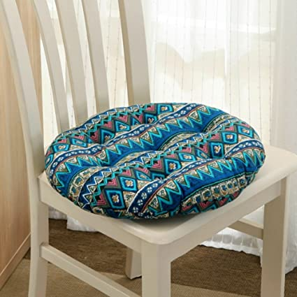 Round Chair Cushion,Autumn And Winter Padded Round Stool Rattan Cushion  Simple Dormitory Futon Chair