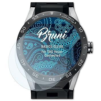 Bruni Protecteur décran pour TAG Heuer Connected Film Protecteur, Cristal Clair Écran Protecteur