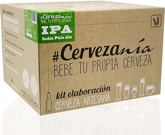 Cervezanía - Kit de elaboración de cerveza artesana India Pale Ale IPA. Elabora 5 litros de cerveza en casa: Amazon.es: Alimentación y bebidas