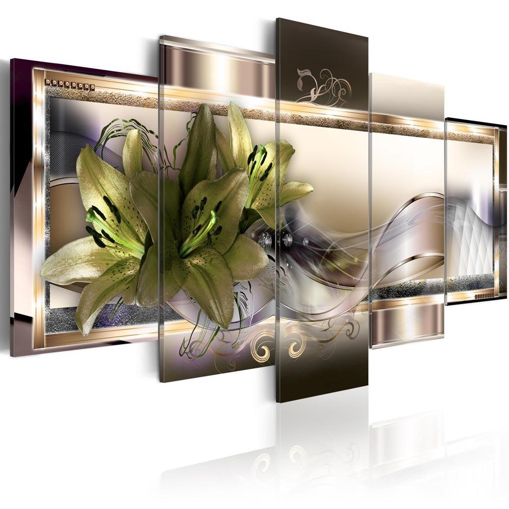 Canvas_Art_Design_2015 Home Decor Abstract Flower Wall Art Canvas Print Pictures for Living Room (A2, 30x45cmx2,30x60cmx2,30x75cmx1)