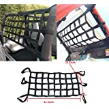 "Black 15""X15"" Cargo Net Net featuring 6 Adjustable Hooks & Tight 2""x2"" Mesh"