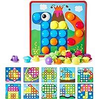 Geekper- Juego de Puzzle de Botones Tablero de Colores para Crear Dibujos. Ideal para la educación temprana de niños…
