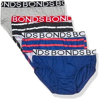 Bonds Boys Underwear Brief (4 Pack), Blue