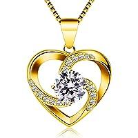 B.Catcher Collar Mujer corazón Plata 925 Colgante ''Amor a Primera Vista'' con San Valentín Regalo Originales Cadena…
