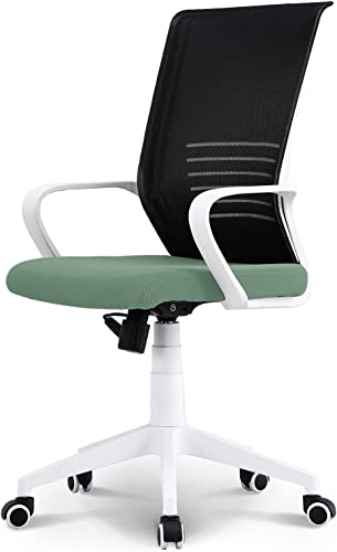 NEO CHAIR Office Chair Computer Desk Chair Gaming – Ergonomic High Back Cushion Lumbar Support with Wheels Comfortable Green Mesh Racing Seat Adjustable Swivel Rolling Home Executive