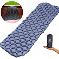 WACOOL Ultralight Inflatable Sleeping Pad Mat Air Mattress - Ultra-Compact for Backpacking, Camping, Travel, Super Comfortable Air-Support