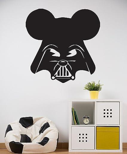Amazon.com: ManukaDesigns Darth Vader Mickey Mouse Wall Decal - Star ...