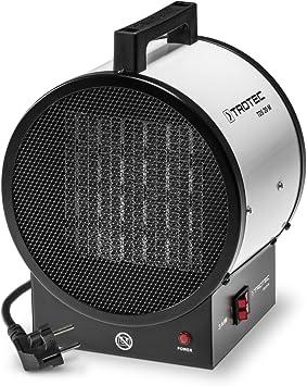 por tanto /óptimos para el calentamiento de espacios interiores duradero TROTEC Calefactor cer/ámico TDS 20 M de 3 kW protecci/ón contra sobrecalentamiento robusto silencioso