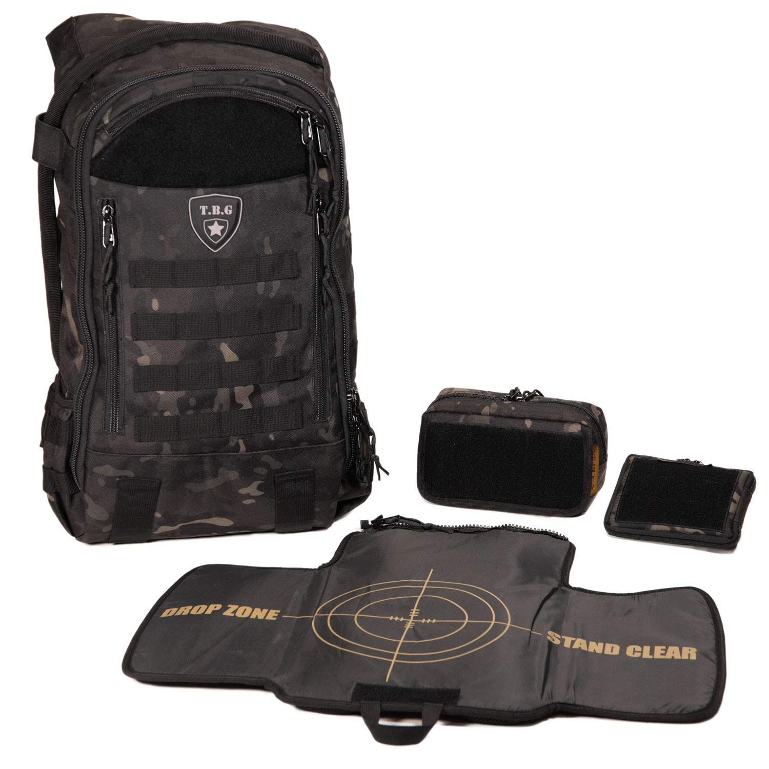 8d32d8b838a0 Amazon.com   Tactical Baby Gear Daypack 3.0 Tactical Diaper Bag Backpack  Combo Set (Black Camo)   Baby