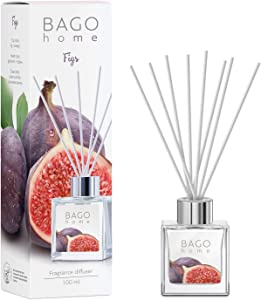 BAGO home Fragrance Oil Reed Diffuser Set - Figs | Figs, Geranium & Creamy Vanilla Notes | 100 ml 3.4 oz