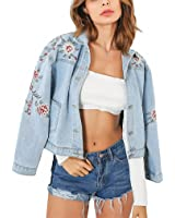 NEW Spring/Summer Jackets Women Floral Embroidery Casual Coats Denim Jeans Jackets Feminina Chaquetas Mujer