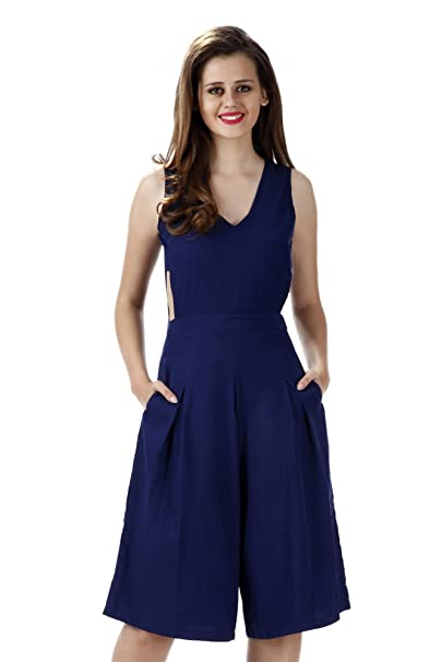 be1229face1 Miss Chase Women s Crepe Cut-Out Jumpsuit (MCAW15D04-09-71 Navy XS)