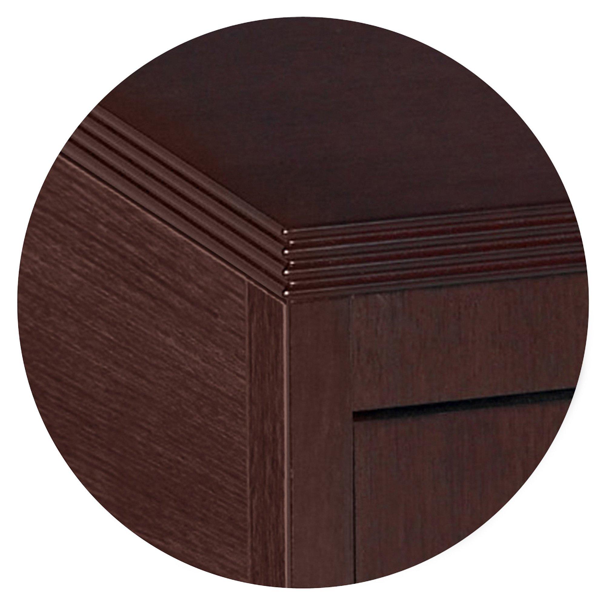 Lorell Pedestal Desk, Box/Box/File, 15-3/4 by 22 by 27-1/2-Inch, Mahogany