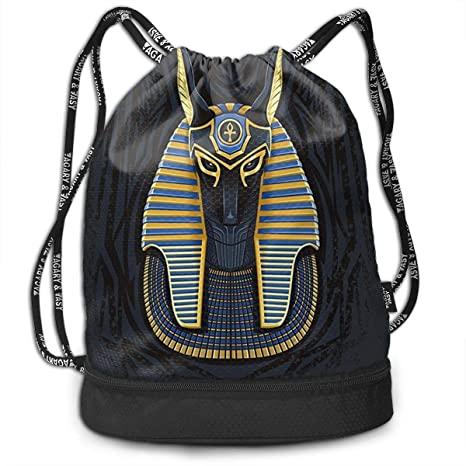 d00969502a Zhangyi Great Sphinx Egyptian Pyramids God Drawstring Backpack Sports Gym  Cinch Sack Bag for Kids Men