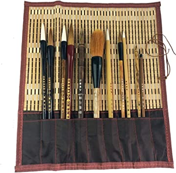 Shanlian Hubi Writing Brush Watercolor Chinese Calligraphy Brush Set Kanji Japanese Sumi Painting Drawing Brushes 6 Piece//Set Brush Holder