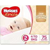 Huggies Ultimate Nappies, Girls, Size 2 (4-8kg), 75 Count
