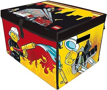 LEGO A1388XX - Alfombra de juegos y caja de almacenaje 2 en 1 con diseño de bomberos City: Amazon.es: Juguetes y juegos