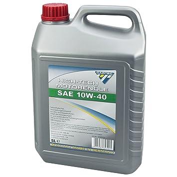 Cartec Aceite para motor High-Tech SAE 10W40 5l - Hecho en ...