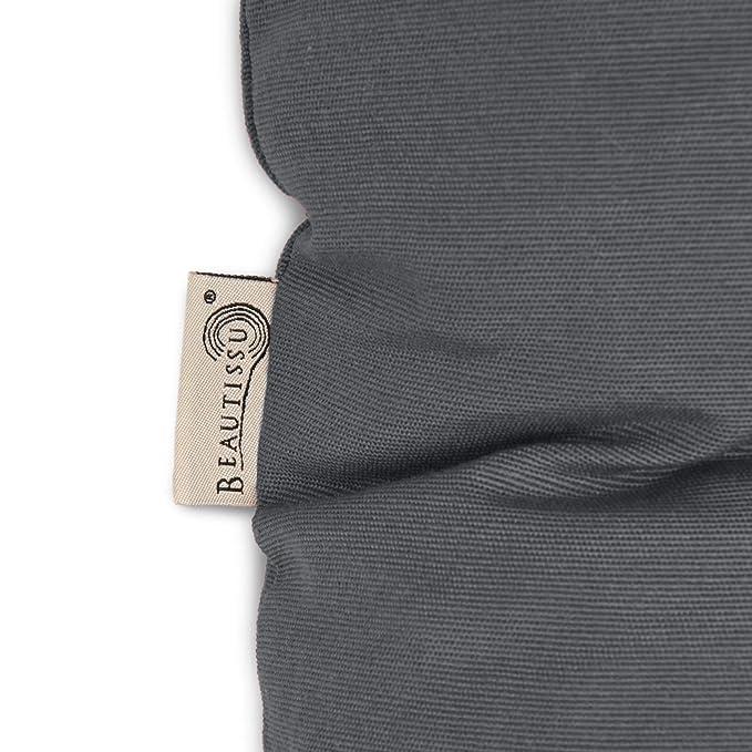 Beautissu Cojines para palés Eco Style - Cojín de Asiento 120x80x15 cm - Color: Gris Grafito - Cojín: Asiento