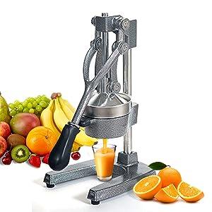 ZENY Commercial Grade Hand Press Manual Juicer - Home Restaurant Fruit Juice Squeezer - Citrus Squeezer for Lemons Limes Pomegranate Oranges, Grey