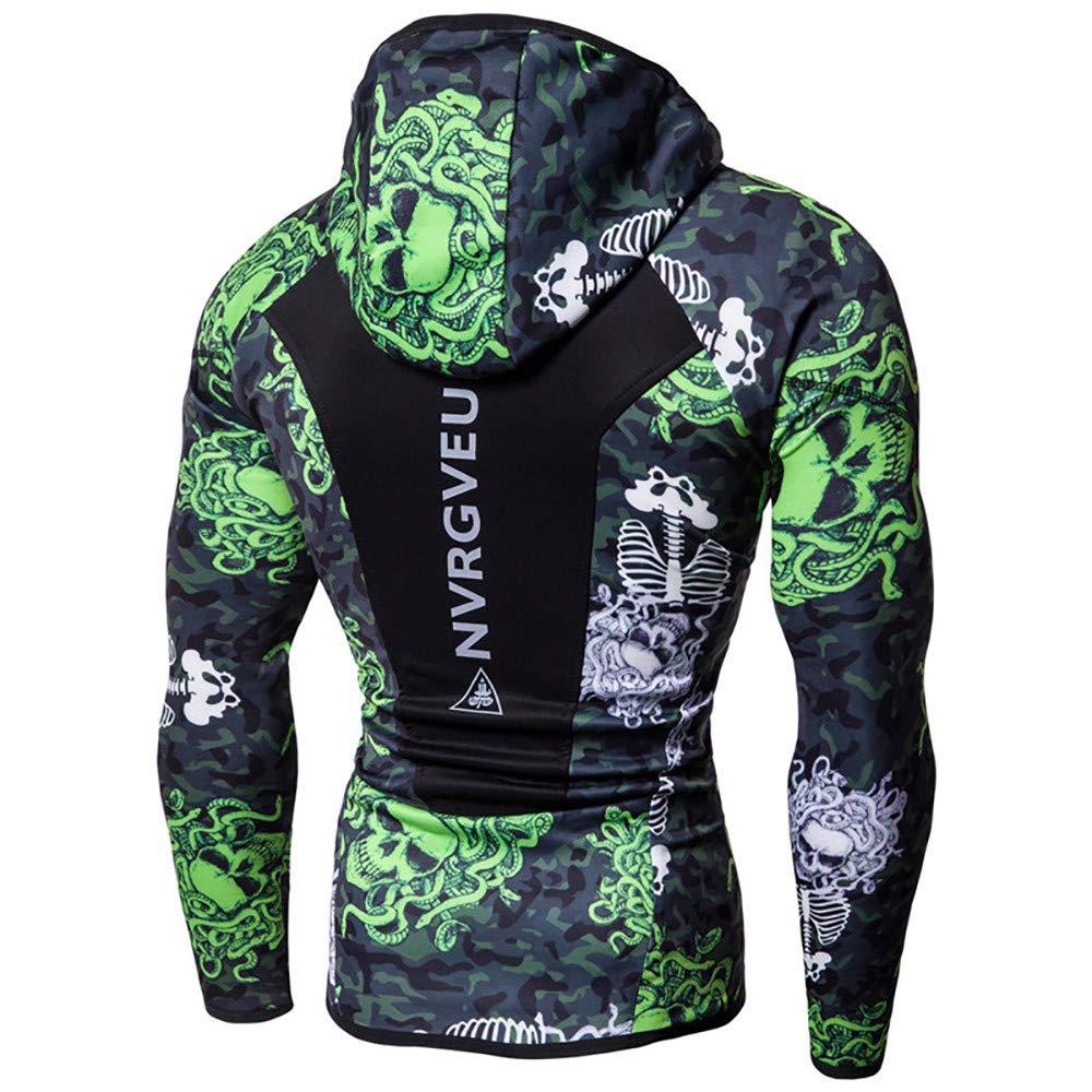 Mens Bodybuilding Long Sleeves Skin Running Hoodie Sweatshirts Hooded Shirt Blouse