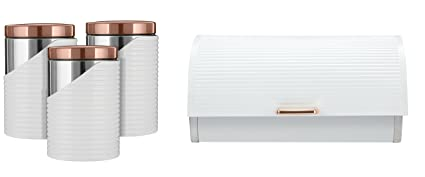 Rose Gold White Tower Stylish Kitchen Accessories Set Rose Gold
