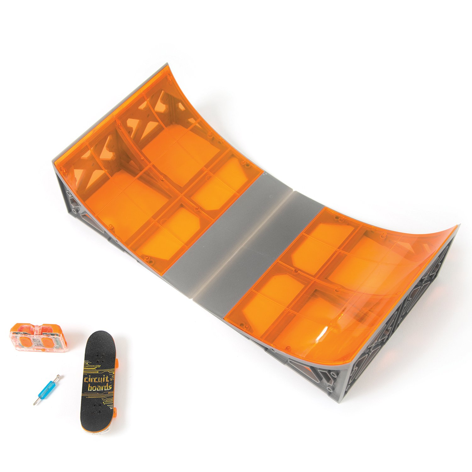 Tony Hawk Circuit Boards Remote Control Skateboard Halfpipe Ramp -Colours May Vary by HEXBUG (Image #1)