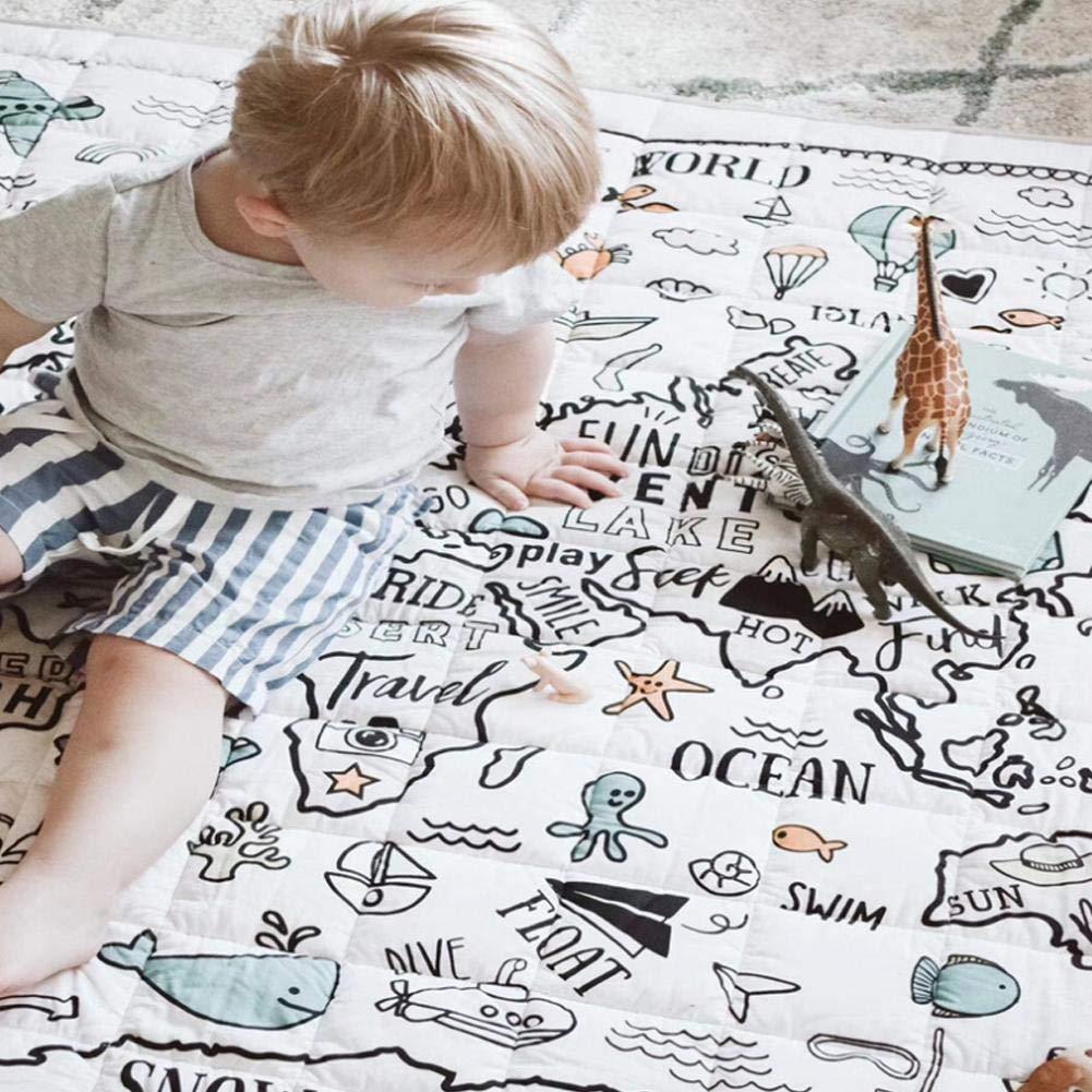 Ideal como Manta de Juegos y Parque para habitaci/ón Infantil Alfombra de Tela para beb/é Alfombra de Juego Pegtopone 120 x 120 cm Suave