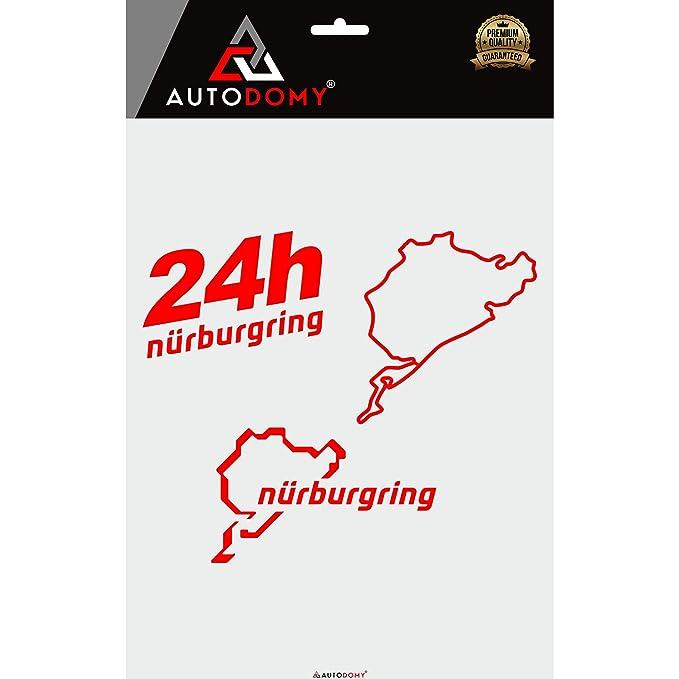 2 x Pegatina Calcomanía Coche Nurburgring