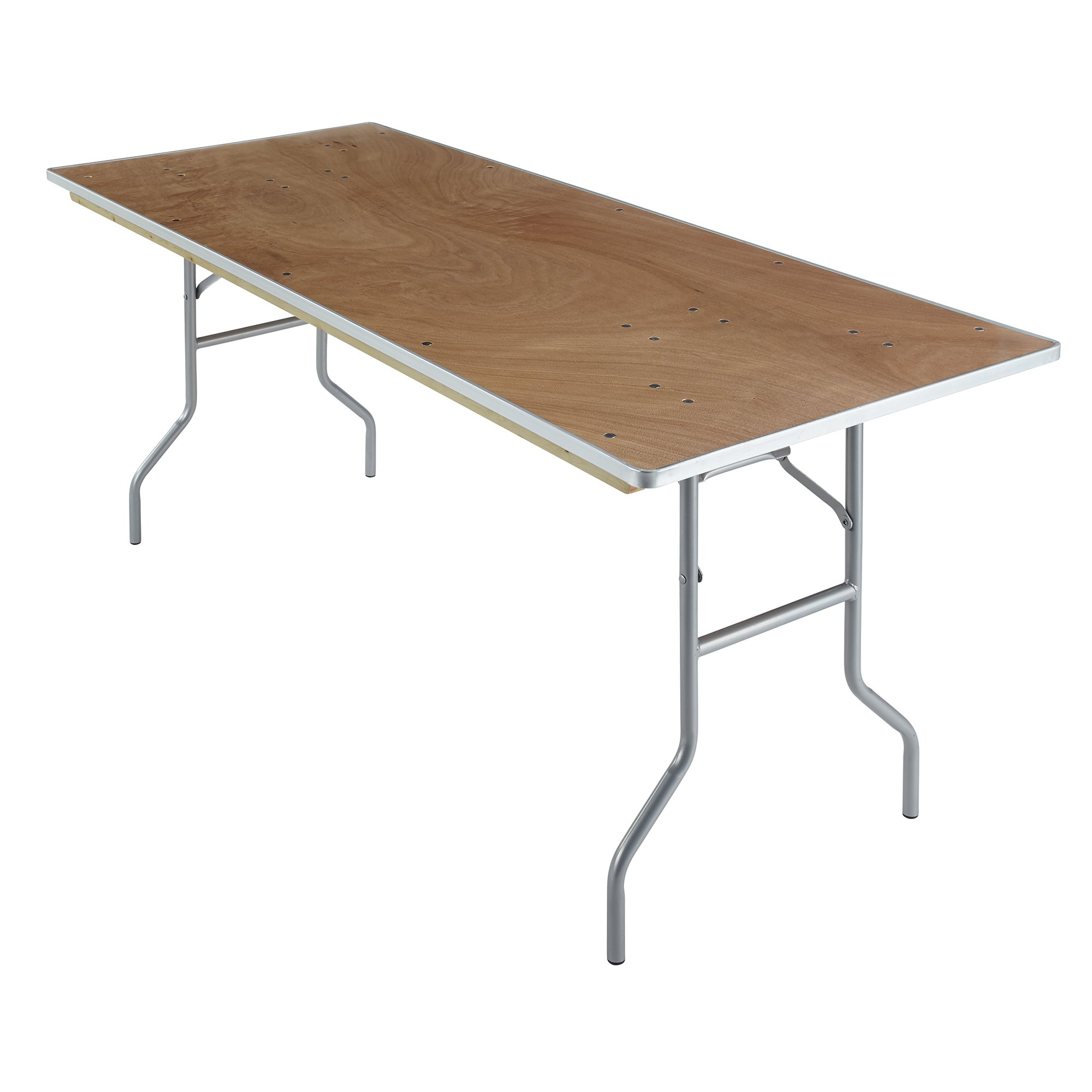 Iceberg 56220 Banquet Plywood Folding Table, Natural, 30 x 72 Inches