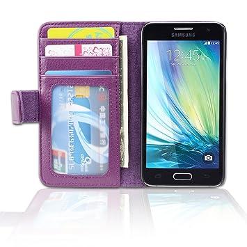 Cadorabo Funda Libro para Samsung Galaxy A3 2015 en Burdeos ...