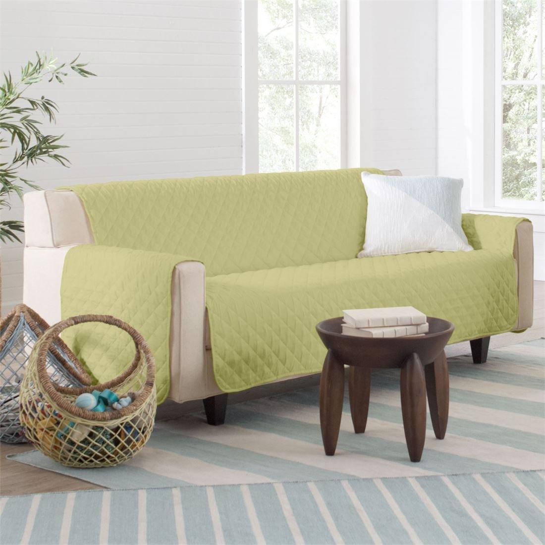 BrylaneHome Bh Studio Water-Repellent Microfiber Sofa Protector (Pear,0)