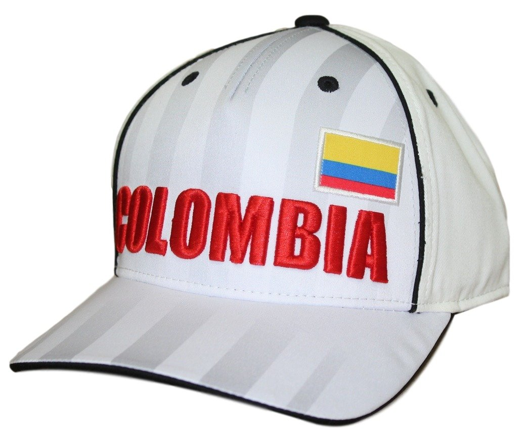 World Cup SoccerメンズWorld Cup SoccerメンズPrinted Structured Adjustable Hat B01MTFTK0C ホワイト One Size One Size|ホワイト|Colombia