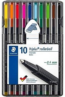 Staedtler Triplus Mobile Office 34 SB6B. Estuche con bolígrafos de punta fina y colores azul y negro.: Amazon.es: Oficina y papelería