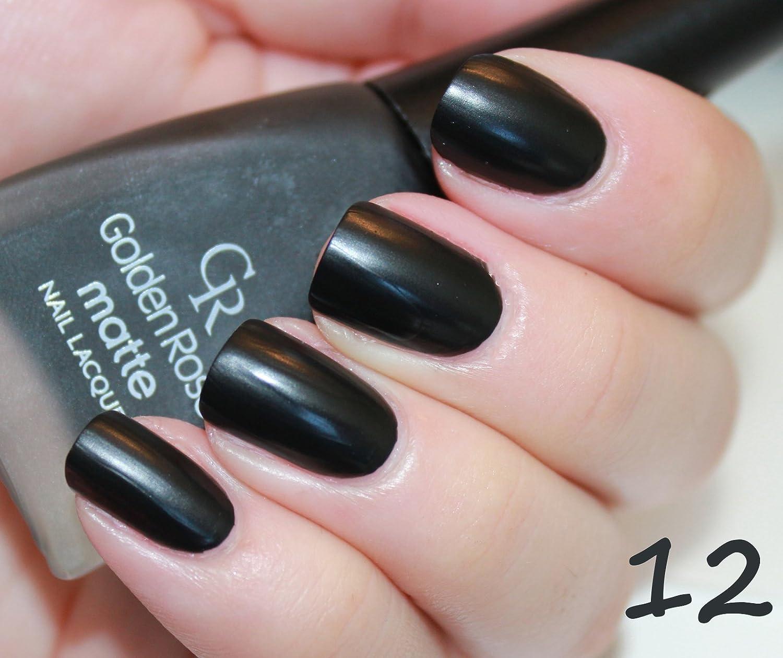 Amazon.com : Golden Rose Matte Nail Polish - 12 Nero Black Gray : Beauty