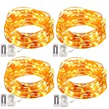Amazon Price History for:GDEALER 4 Pack Fairy Lights Fairy String Lights Battery Operated Waterproof 8 Modes 50 LED 16.4ft String Lights Copper Wire Firefly Lights Remote Control for DIY Wedding  Party Dinner (Warm White)