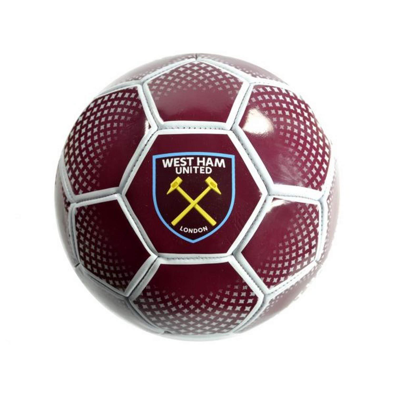 West Ham United Red Diamond - Balón de fútbol (Talla 5): Amazon.es ...