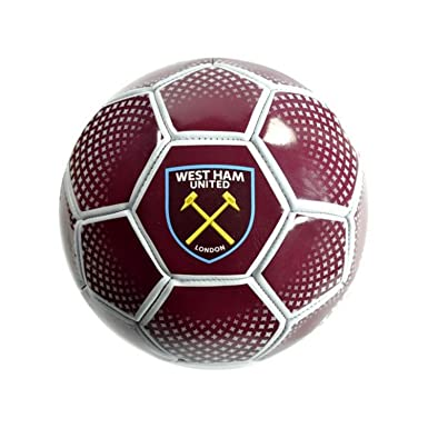 West Ham United Red Diamond - Balón de fútbol (Talla 5): Amazon.es ...