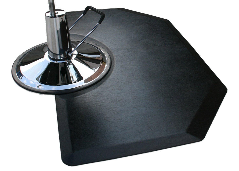 Rhino Mats CCL35SH Comfort Craft Lite Salon Hexagon Mat, 3' Width x 5' Length x 1/2'' Thickness, Black