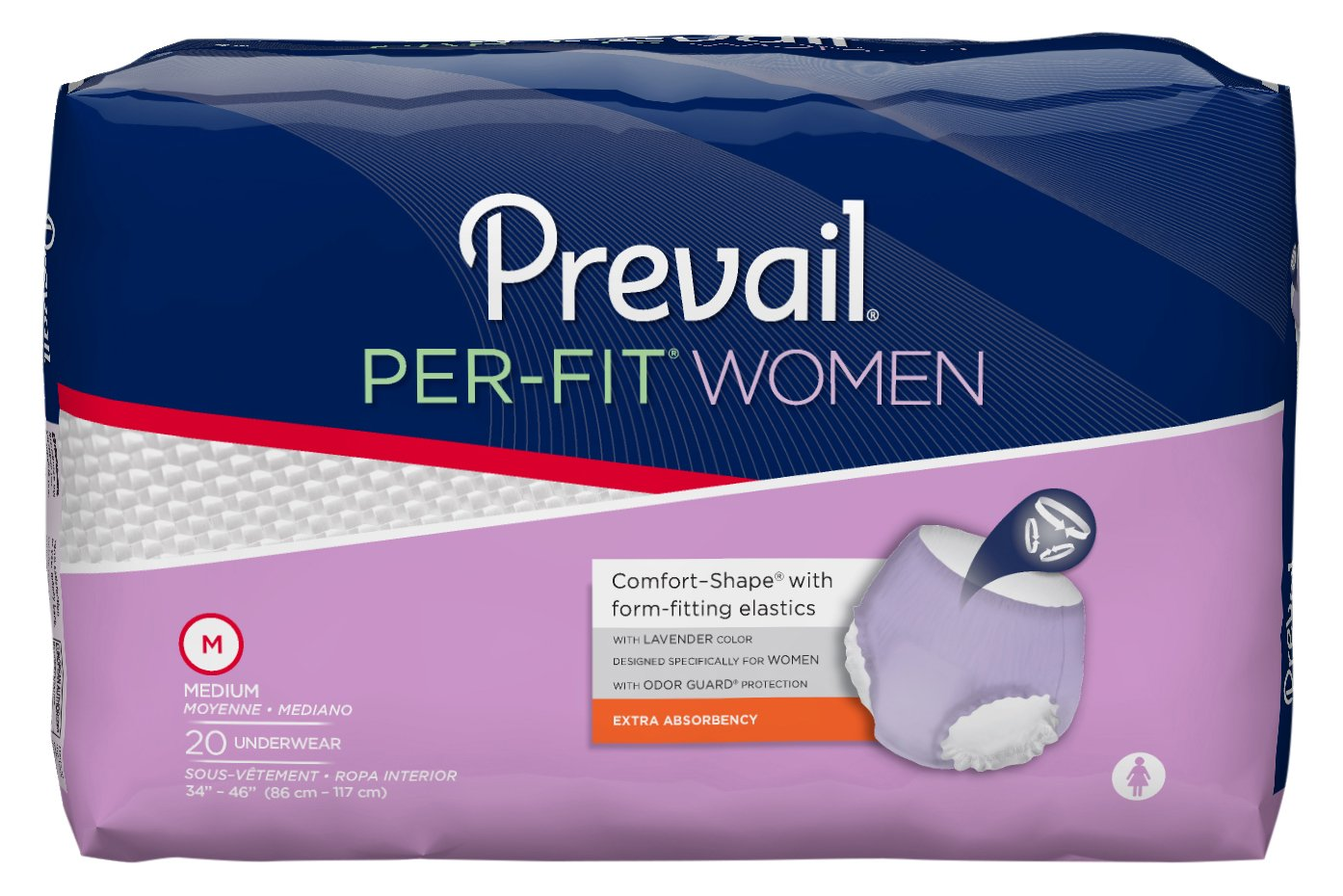 Amazon.com: Prevail Per-Fit Extra Absorbency Incontinence Underwear for Women, Large, 72-Count: Health & Personal Care