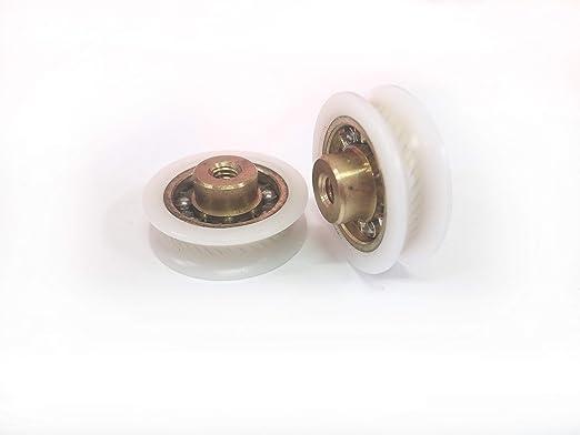 Repuesto de rodamientos para mampara de ducha para puertas correderas Kit 2 piezas Mod 23 BL Scan M4: Amazon.es: Bricolaje y herramientas