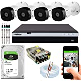 Kit Cftv Intelbras 4 Câmeras Segurança Full Hd 1220 2mp 3104