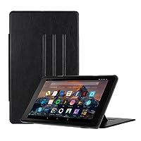 CASEBOT Hülle Amazon Fire HD 8 Tablet (7. und 8. Generation - 2017 und 2018) - [Multi-Sichtwinkel] Schlank Magnetische Kickstand Schutzhülle Abdeckung mit Auto Schlaf/Wach Funktion, Schwarz
