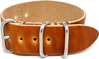 product image for DaLuca 1 Piece Military Watch Strap - Natural Dublin (Matte Buckle) : 26mm