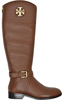 5a8c9b92019 Tory Burch Women s Tumbled Leather Adeline 20M Riding Boots Almond Brown  (US ...