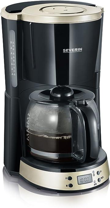 Severin Cafetera con Temporizador SELECT, 1000 W, Negro y titanio ...