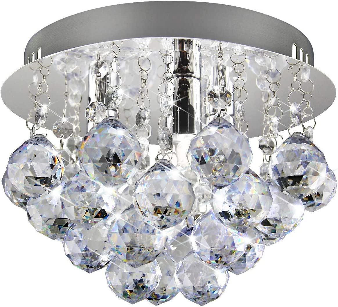 amazon co uk chandeliersmodern small round chandelier ceiling light droplet effect mini flush mount reflective base m0070