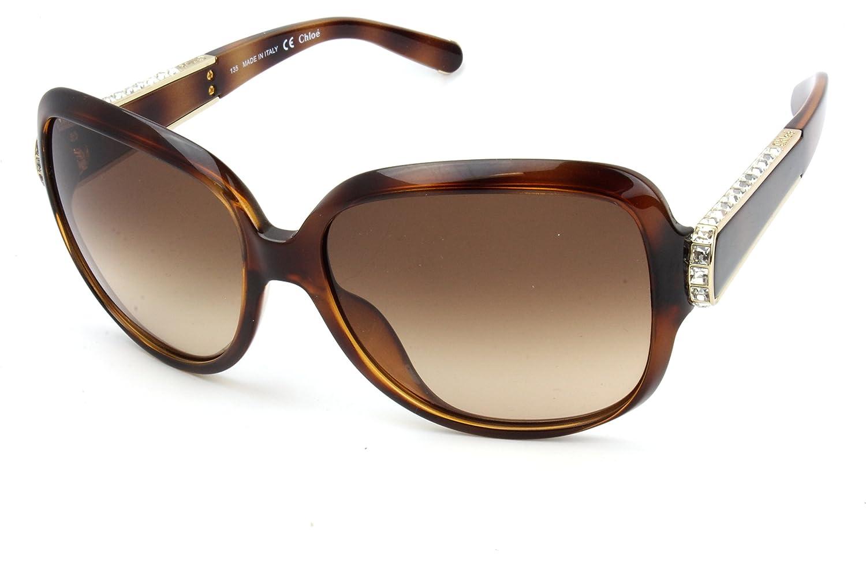 Chloe Diamante détail lunettes de soleil tortue CE612SR 219 59  Amazon.fr   Vêtements et accessoires 41d014f97541