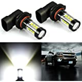 JDM ASTAR Extremely Bright Max 80W High Power 9040, 9140, 9145, 9050, 9155, H10 LED Fog Light Bulbs for DRL or Fog Lights, Xenon White